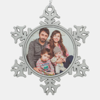 Personalized Pewter Snowflake Ornament