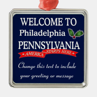 Personalized Philadelphia PA Christmas Ornament