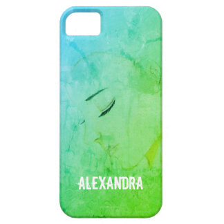 Personalized Phone Case Girl Pencil Illustration