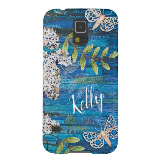 Personalized Phone Case with Moths and Flowers