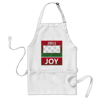 Personalized Photo 2011 Christmas Snow Joy Standard Apron