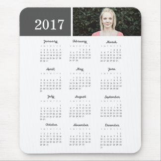 Personalized Photo 2017 Calendar Mouse Pad