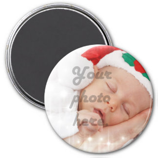 Personalized photo 3 inch round magnet