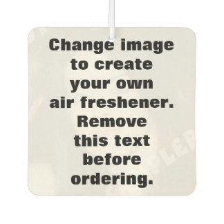 Personalized photo air freshener. Make your own! Car Air Freshener