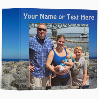 Personalized Photo Album Binder, Your TEXT,  PHOTO 3 Ring Binders