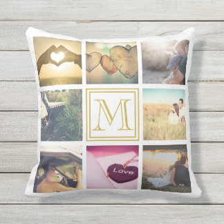 Personalized Photo and monogram Throw Pillow