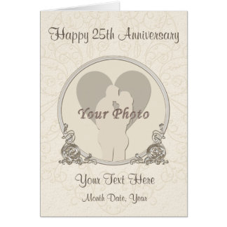 Personalized PHOTO Anniversary Cards for ANY YEAR