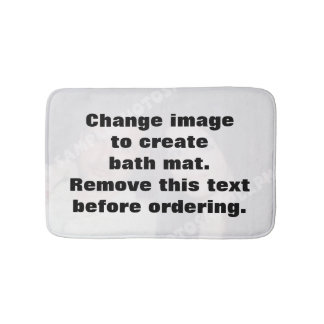 Personalized photo bath mat. Make your own! Bath Mat