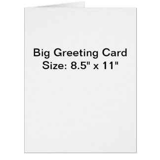Personalized Photo Big Greeting Card