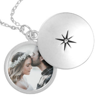 Personalized Photo Charm Necklace Silver