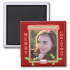 Personalized Photo Christmas Magnet