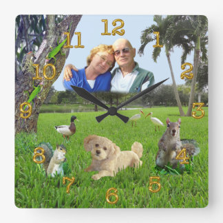 Personalized PHOTO Clocks Your Photo and Pet