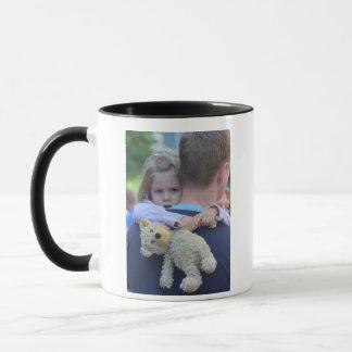 Personalized Photo Dad is My Superhero Coffee Mug