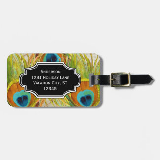 Personalized Photo Feather Pattern Luggage Tag