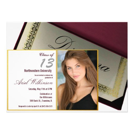 personalized photo graduation party invitation