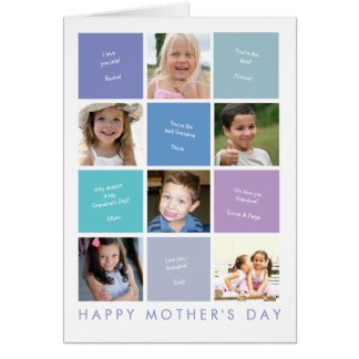 Personalized Photo Grandma's Mother's Day Card