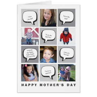 Personalized Photo & Greetings Mother's Day Card