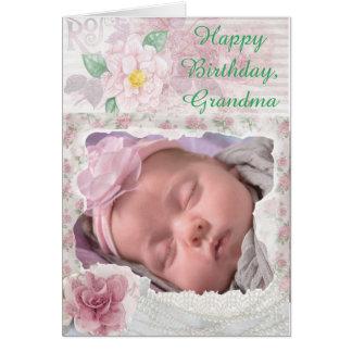 Personalized Photo Happy Birthday Grandma Card