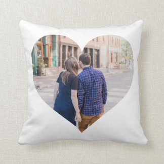 Personalized | Photo Heart Throw Pillow