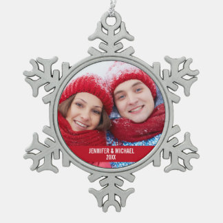 Personalized Photo Holiday Snowflake Ornament R