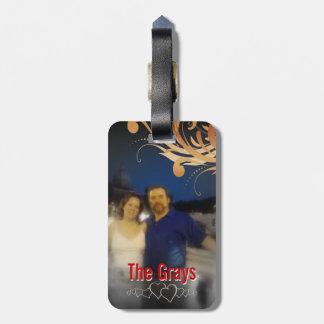 Personalized Photo   Honeymoon Cruise Monogram Bag Tag
