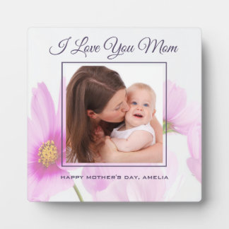 Personalized Photo I Love You Mom Mother's Day Plaque