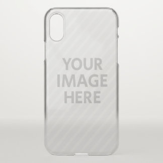 Personalized Photo iPhone X Clearly Deflector Case