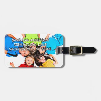 Personalized Photo Luggage Tag