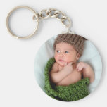 Personalized Photo Make It Yourself Basic Round Button Keychain