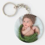 Personalized Photo Make It Yourself Basic Round Button Keychain