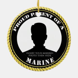 Personalized Photo Marine Parent Ornament