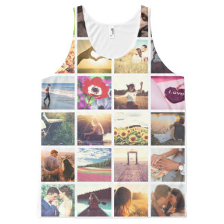 Personalized photo masaic template All-Over-Print tank top