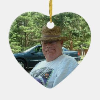 Personalized Photo Memorial Gift Heart Ceramic Ornament