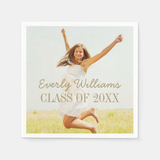 Personalized Photo Napkins | Class of 2017 Disposable Napkin