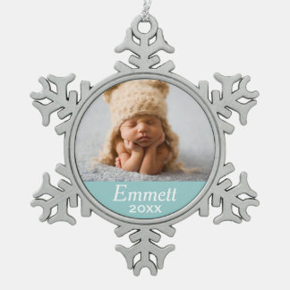 Personalized Photo Ornament | Custom Color