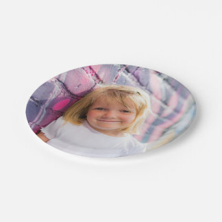 Personalized Photo Paper Plates Childrens Party 7 Inch Paper Plate