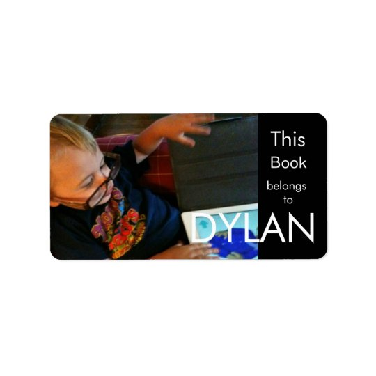 Personalized Photo Rectangular Bookplate Label
