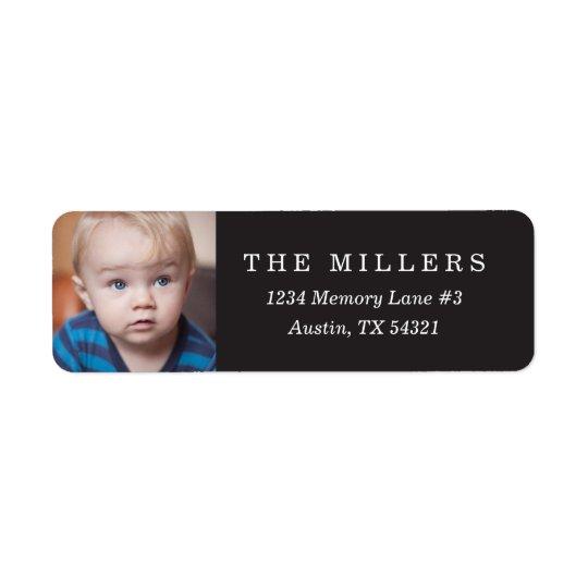 Personalized Photo Return Address Label