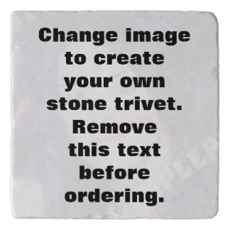 Personalized photo stone trivet. Make your own! Trivet