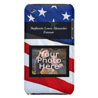 Personalized Photo USA Patriotic American Flag iPod Case-Mate Case