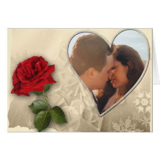 Personalized Photo Valentines Day Card