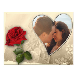 Personalized Photo Valentines Day Postcard