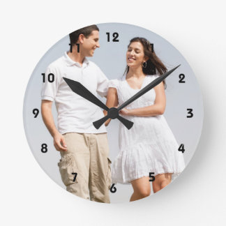 Personalized photo wall clock. Make your own! Round Clock