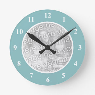 Personalized photo wall clock with your picture
