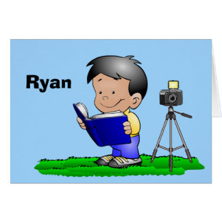 Personalized Photographer Note Cards for Boys