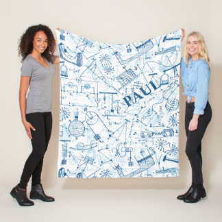 Personalized Physics Gifts for Physicists Fleece Blanket