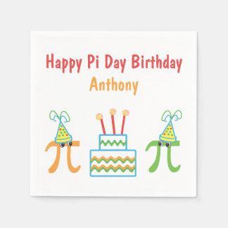 Personalized Pi Day Birthday Disposable Napkin