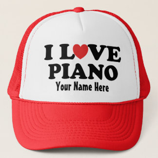 Personalized Piano I Love Heart Music Gift Hat