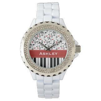 Personalized Piano Keys Watch