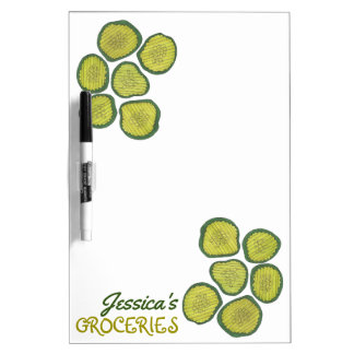 Personalized Pickle Chips Kosher Pickles Foodie Dry Erase Board